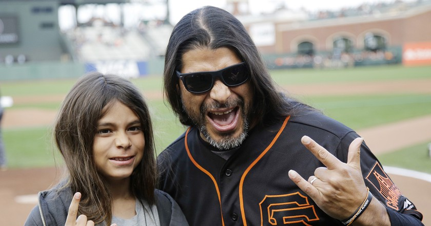 Tye with his dad Robert Trujillo | (c)  Marcio Jose Sanchez/AP/REX/Shutterstock
