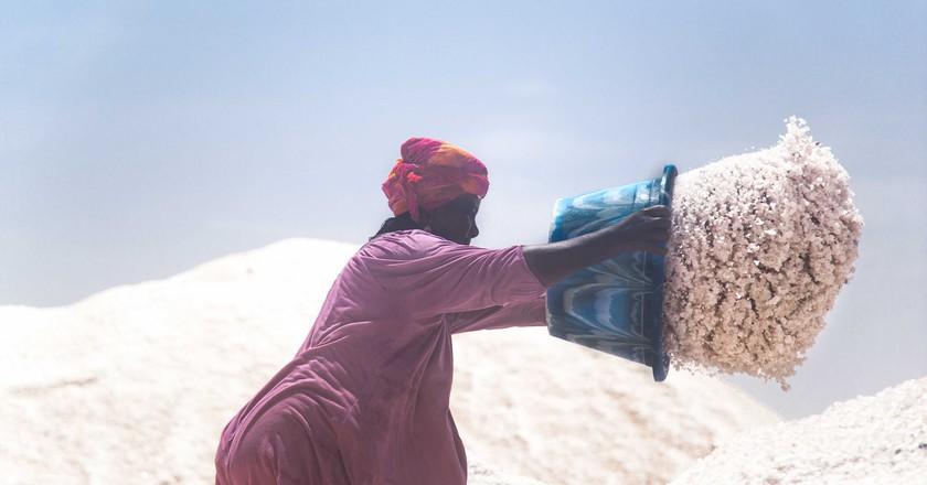 "A photo from Gil Miranda's ""Women of the Salt"" series on the largest salt mine in Senegal   Courtesy of Sebastian Gil Miranda"