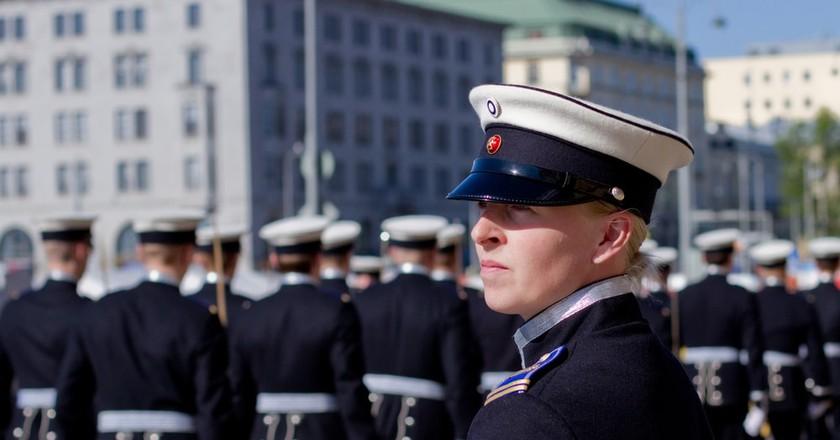 Female Cadet in Helsinki   © Aija Lehtonen/Shutterstock