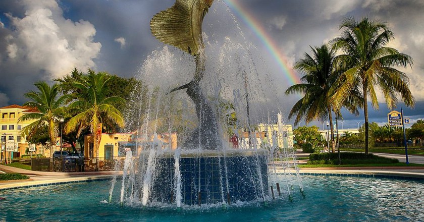 Stuart, Florida Sailfish Fountain | Mitch Kloorfain/Flickr