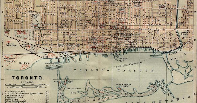 Map of Toronto, 1894 | Public Domain/ WikiCommons
