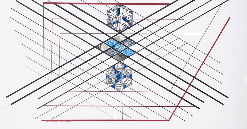 Monir Shahroudy Farmanfarmaian, Untitled, 2012   © Monir Shahroudy Farmanfarmaian