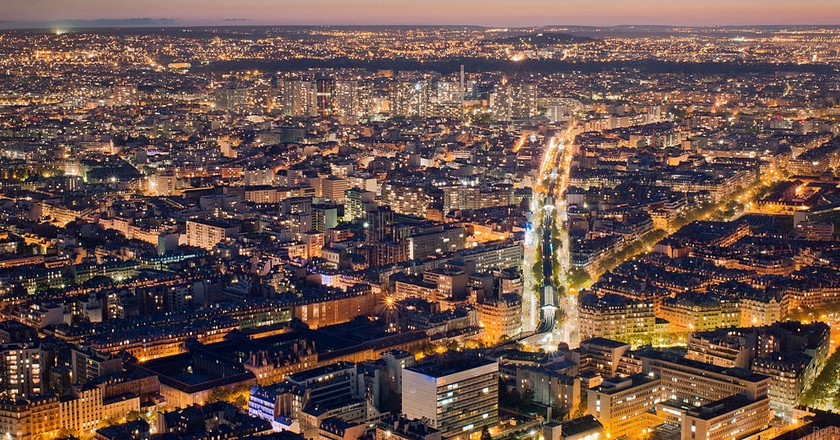 View from Tour Montparnasse │© Getfunky / Wikimedia Commons