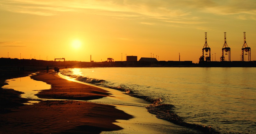 Sunset on the Stogi Beach at Baltic Sea. Gdansk, Poland | © ysuel/Shutterstock