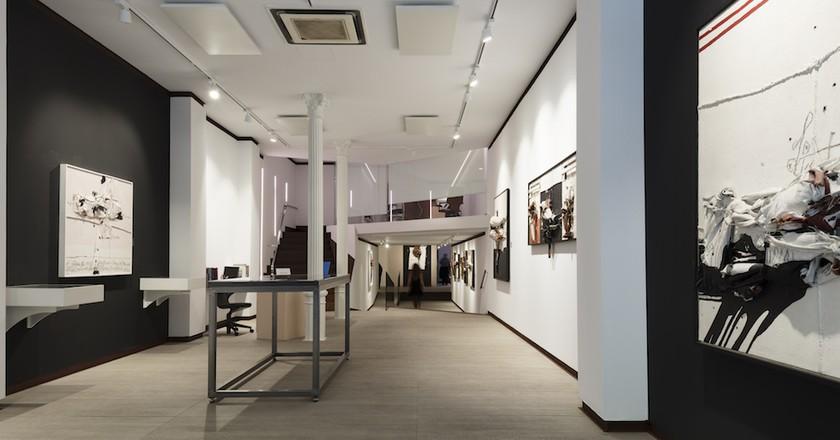 Millares exhibition Courtesy of Galería Mayoral