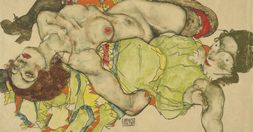 Female couple, 1915 by Egon Schiele