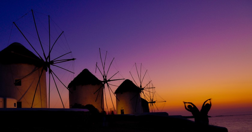 The windmills of Mykonos Island, Greece |  © Hassan Rafeek | Flickr
