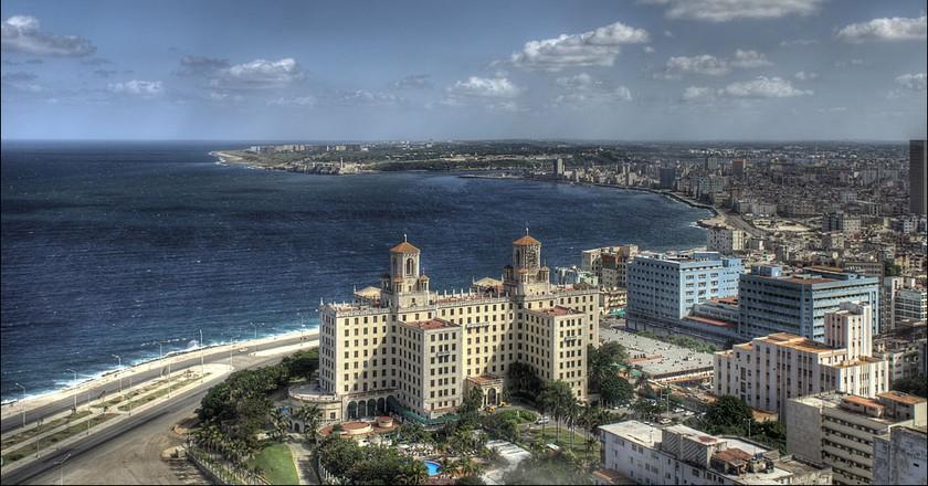 Aerial view of the Hotel Nacional, Havana | © Thomas Münter / Flickr