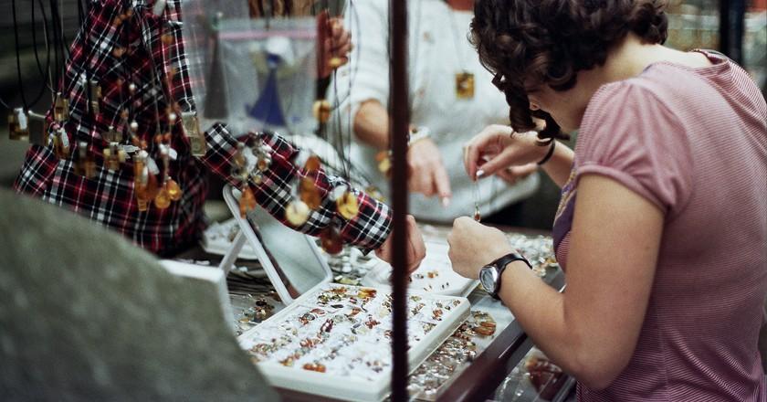 The amber market, Gdansk | © Weldon Kennedy/Flickr