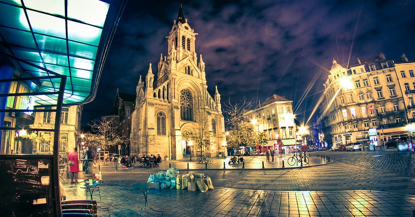 Brussels' Saint Gilles neighborhood at night | © Arcadius / Flickr