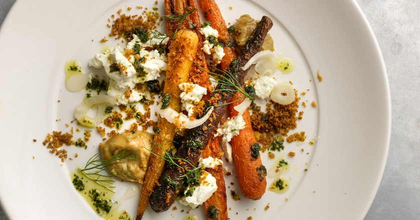 Roast carrots with Knockalara cheese at Café Paradiso | © CristianBarnett / Courtesy of Café Paradiso