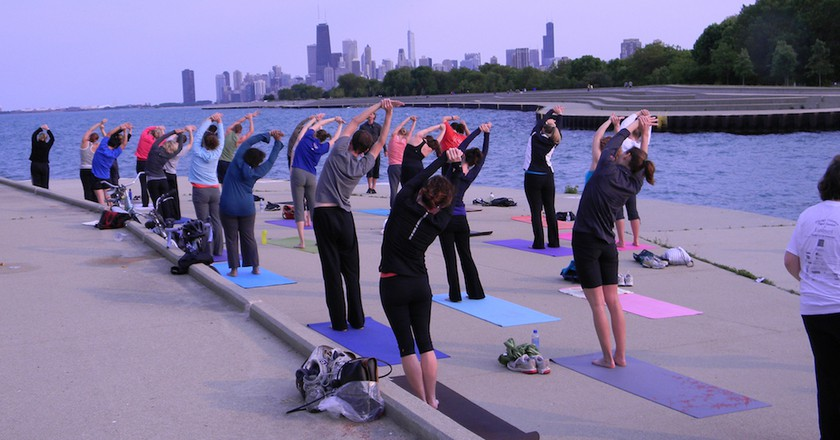 Yoga by the Lake   Courtesy of Fitness Formula Clubs