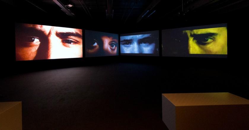 Media installation on four screens Photo: © Deutsche Kinemathek / M. Stefanowski, 2013