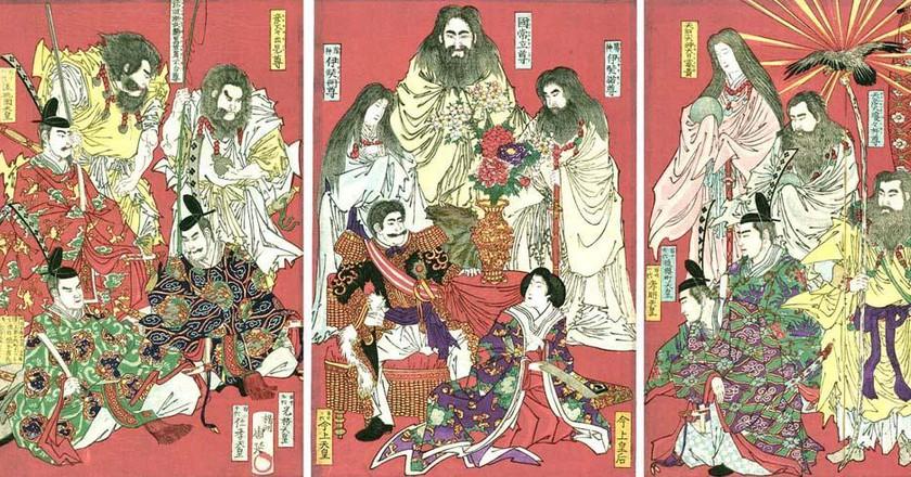 State Shinto (1878) by Toyohara Chikanobu, via Wikimedia Commons