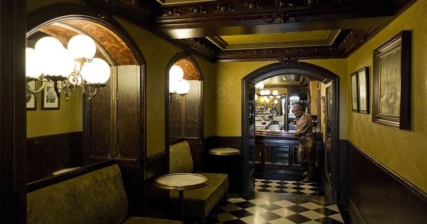 Hemingway at the Café Iruña in Pamplona