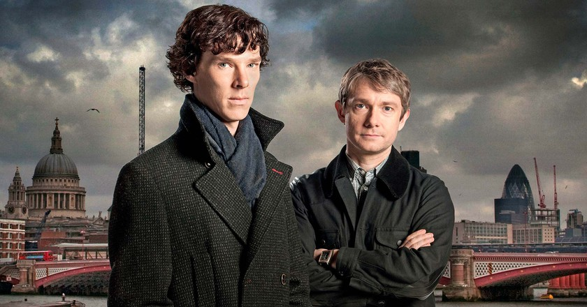 Benedict Cumberbatch and Martin Freeman in 'Sherlock' | © BBC