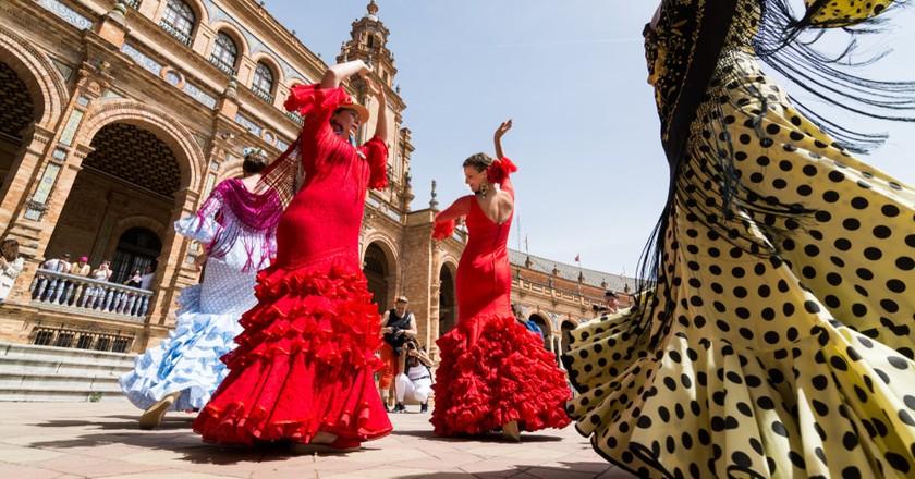 Flamenco on Plaza de España, Seville