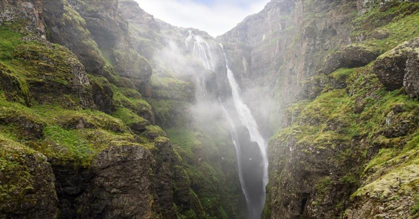Glymur waterfall in Iceland | ©Austin Griffith/Shutterstock