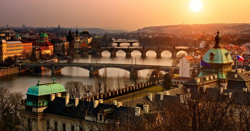 Sunrise in Prague    © Vitaly Titov / Shutterstock
