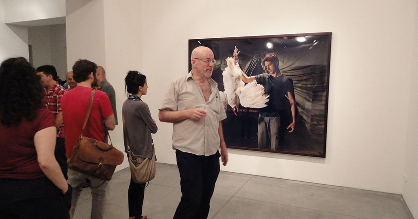 Adi Nes, The Village, show opening at Sommer Contemporary Art in Tel Aviv | Yair Talmor, Wikipedia