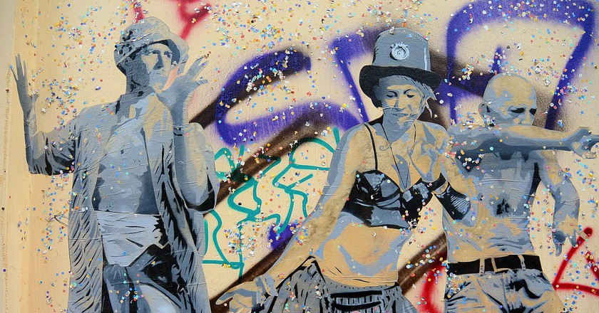 A mural in Berlin, and a tribute to the party culture | © Sarah_Loetscher/ Pixabay