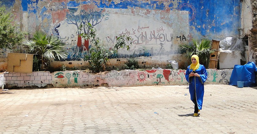 Vibrant street art in Casablanca's medina, Morocco