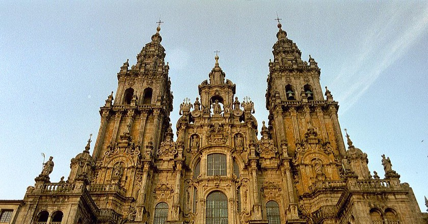 The Santiago de Compostela Cathedral, Galicia | © NielsB/WikiCommons
