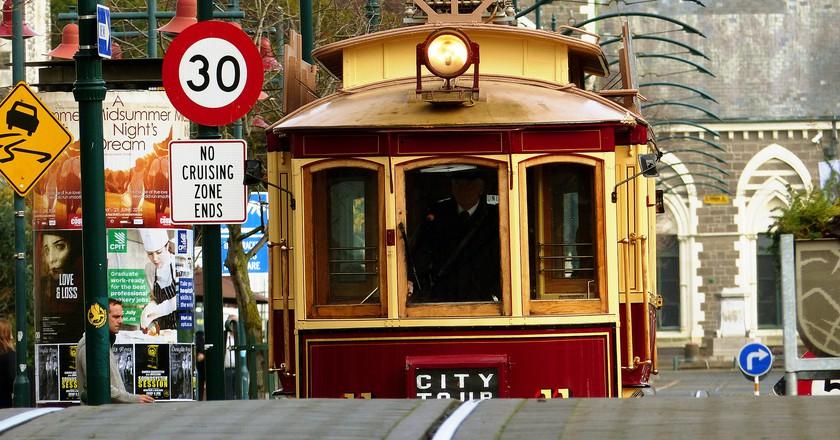 Approaching Tram in Christchurch