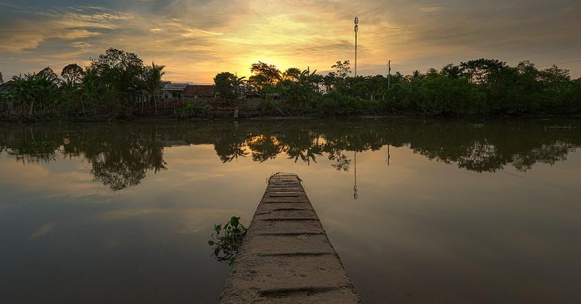 Sunset in Mekong delta | © Jos Dielis/Flickr