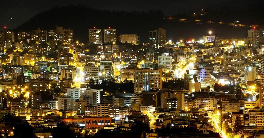 Quito at night   © Cristian Ibarra Santillan/Flickr
