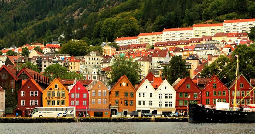 Bryggen and Bergen elevations © Juan Antonio Segal / Flickr