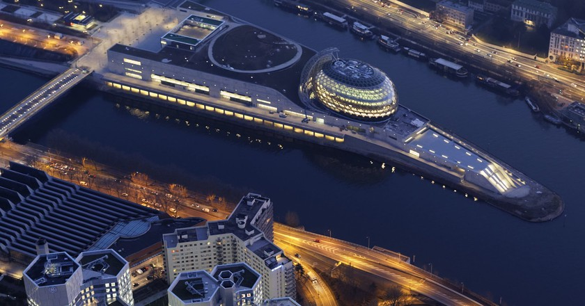 Bird's-eye view of La Seine Musicale │© Air Images – Philipe Guinard, Courtesy of La Seine Musicale
