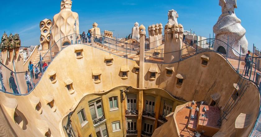 The rooftop of Gaudí's La Pedrera|©Pexels/Pixabay
