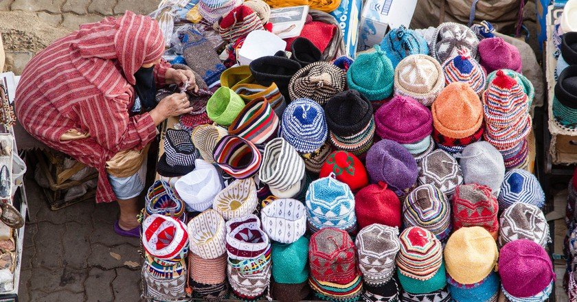 Colourful hats for sale in Marrakech | © EyeofJ / Flickr