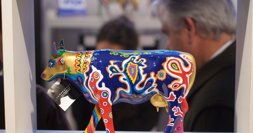 A cow statue at the 2011 La Rural Agricultural Fair   Courtesy of Beatrice Murch Photography