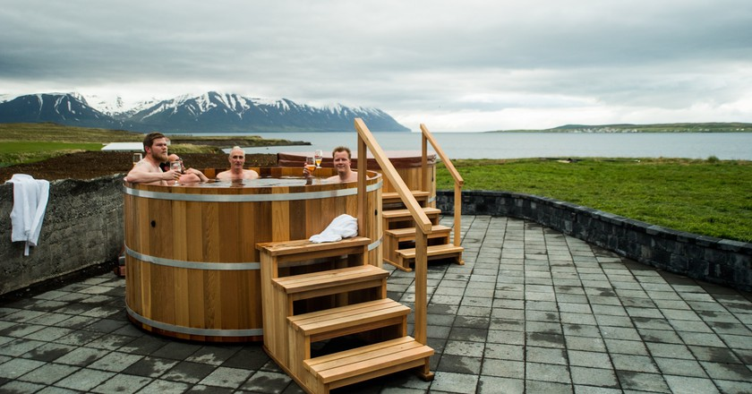 | Courtesy of Bjórböðin - The Beer Spa