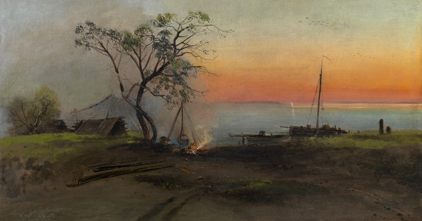 'Fishermen on the Volga' by Aleksei Kondratevich Savrasov (1872) | ©WikiCommons