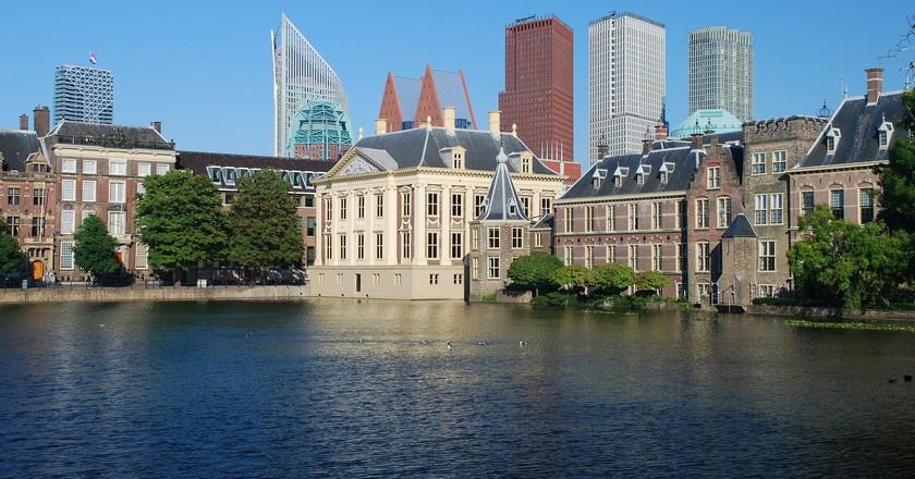 The Hague's skyline behind Mauritshuis | © pixabay