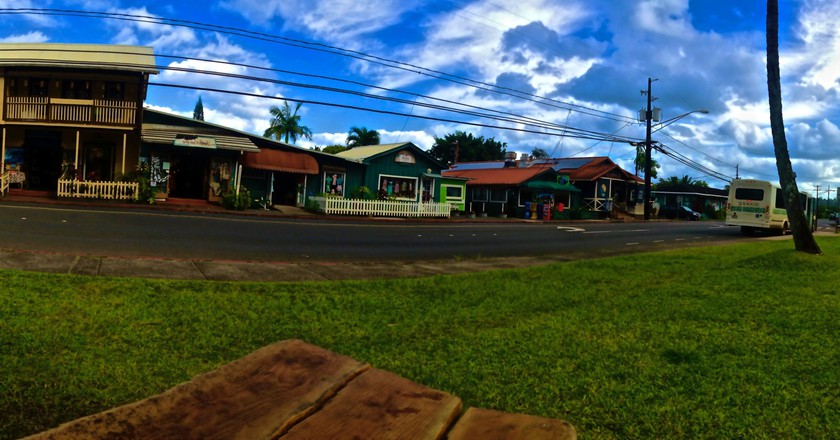 Hanalei town shops   © GE Keoni