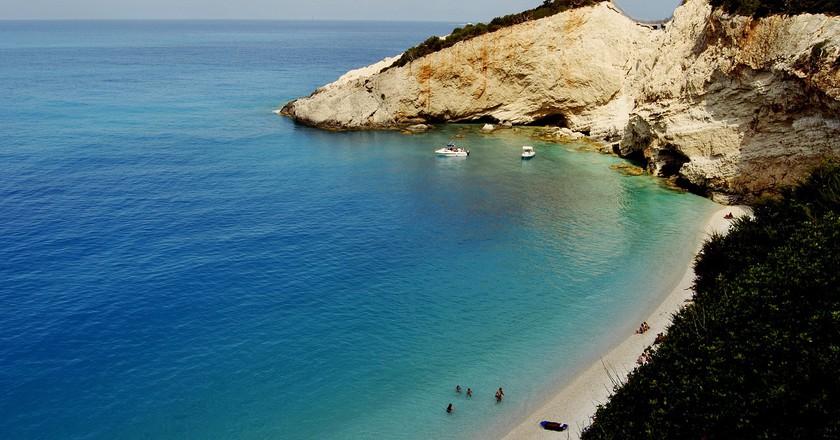Cliffs of Porto Katsiki beach, Lefkada