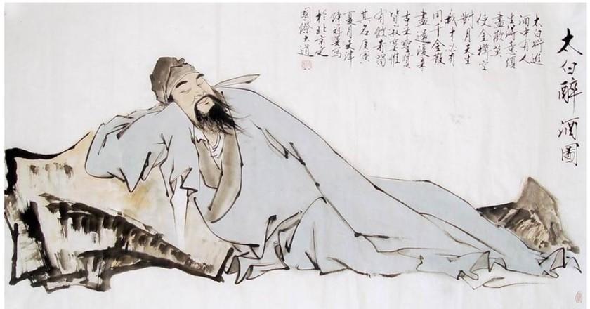 Li Bai (19th century), held in the Gu Lang Yu Museum, Xiamen, Fujian, China. | ©WikiCommons