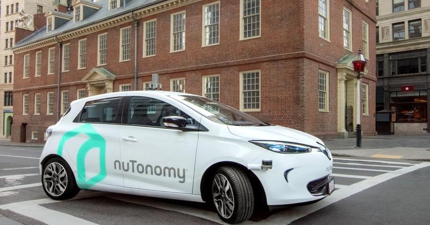 One of nuTonomy's cars in Boston   Courtesy nuTonomy