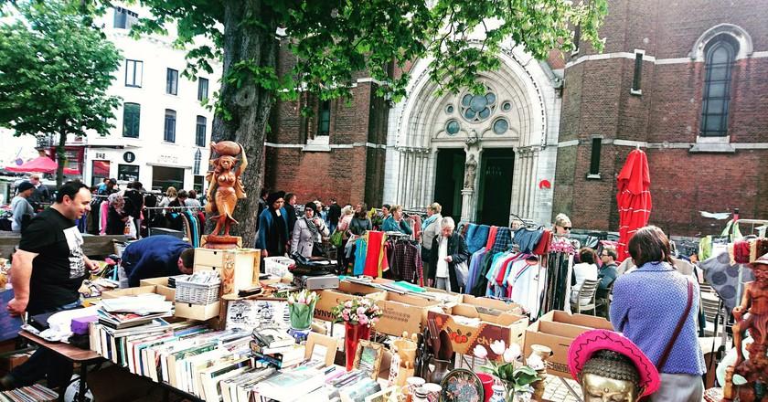 Flea market Dageraadplaats | © Live in Belgium / Flickr
