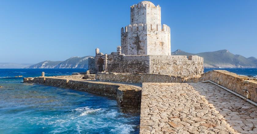 The Bourtzi tower in Methoni Venetian Fortress | © Nick Pavlakis / Shutterstock