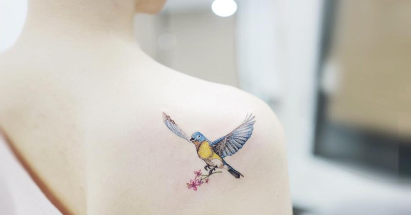 South Korean tattoo artists are famous for their poetic minimalism | © Banul / Instagram