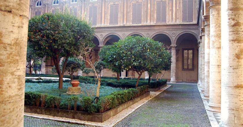 The Courtyard Inside Palazzo Doria Pamphilj   © Livia Hengel