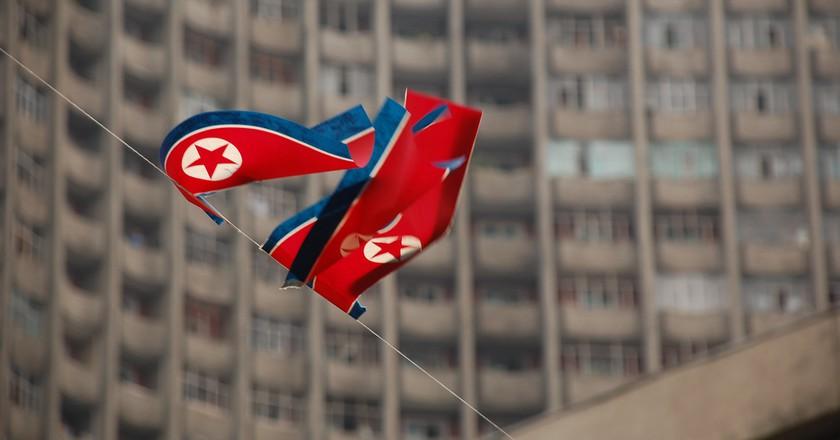 North Korea Flag in Pyongyang | © Stephen/Flickr