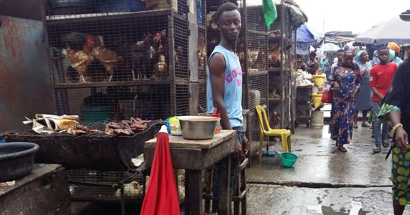 The poultry line at Jankara Market | © Cynthia Okoroafor