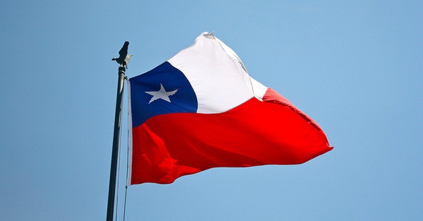 Chile flag © Amelia Engel / flickr