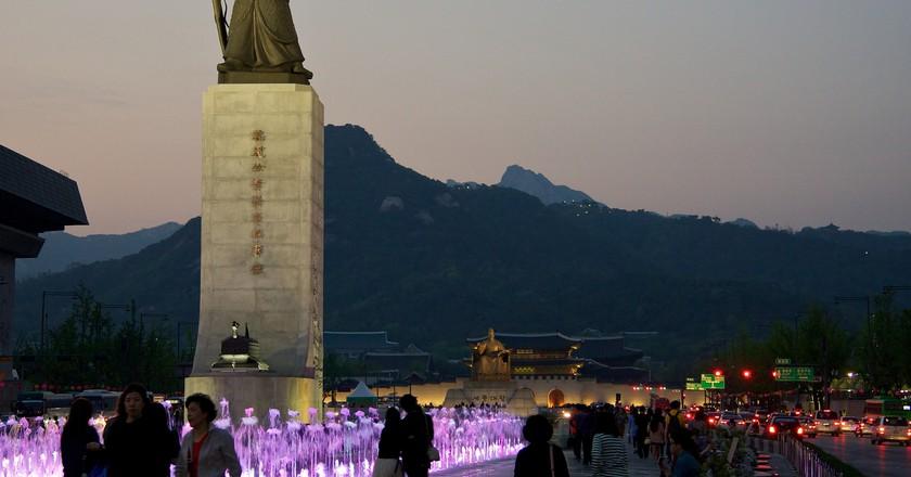 Gwanghwamun Plaza in downtown Seoul | © Mario Sánchez Prada/Flickr